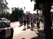 Oct22-Marchers ignore orders to move near 6th & H streets in Modesto