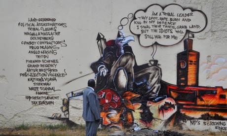 Kenya graffiti protesters